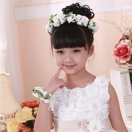 Wholesale Korean Wedding Flower Wreath - South Korean children's wreath wreath han edition simulation Girls tire Flower garland Wreath of wedding dress accessories