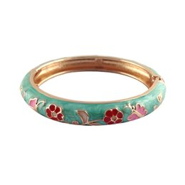 Wholesale Baby Flower Bracelet - flower bangles fashion enamel bracelet for baby kids cute bangles unique accessories best birthday gift A067D