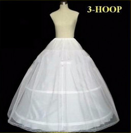 Wholesale Wedding Hoops Petticoats - In Stock Petticoats Wedding Ball Gown Ball 3 Hoop Bone Full Crinoline Petticoats For Wedding Dress Wedding Skirt Accessories Slip