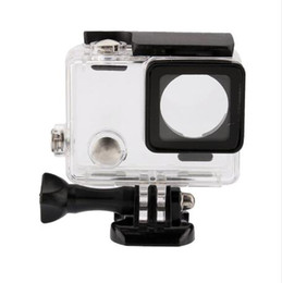 Wholesale Underwater Housing Case Waterproof - 50yd Underwater Waterproof Camera Housing Case Cover For Gopro Hero 4 3+ 3 Transparent Shockproof Diving Shell Box