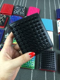Wholesale Colorful Zip Wallets - 2017 Hot new Summer Style Colorful Women Fashional Mini Faux Leather Purse Zip Around Wallet Card Holders Handbag Short Small Purse free