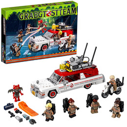 Wholesale Toys Games For Boy - Lepin 16032 Ecto-1&2 building bricks blocks Toys for children boys Game Model Car Gift Compatible with Decool Bela 75828