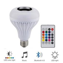 bluetooth lumière intelligente Promotion Bluetooth Smart Speaker Lampe E27 Ocean Wave Lead Night Fantasy Lumière Projecteur Haut-Parleur Lampe Scooter Électrique Musique MP3