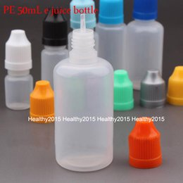 Wholesale Needle Tip Eye Dropper Bottles - 1000pcs lot Empty 50ml Plastic Dropper Bottles Eye Drop Bottle With Childproof Caps And Long Tip For E Liquid Needle Bottle