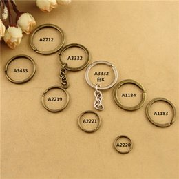 Wholesale Antique Copper Jump Rings - Vintage DIY handmade jewelry accessories bronze Keychain round Key Ring clasps, antique bronze jump rings, silver split ring key holder hook