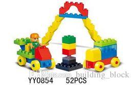 Wholesale Toy Crane Building Blocks - 2017 HPD Building Block Game Bridge Crane Play Set Building Blocks Toys Block Puzzle Girls Gifts Boys Toys Bricks Blocks Plastics Assemblage