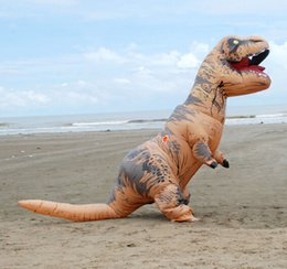 Wholesale Costume Dinosaur - one size fit all design adult Inflatable T-rex dinosaur Costume inflatable T-rex dino fancy suit