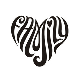 Wholesale Family Stickers For Car Windows - For Family Heart Interesting Fashion Vinyl Decal Car Window Car Bumper Funny Jdm Sticker Car Body Decorate
