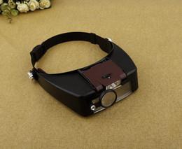 Wholesale Helmet Magnifying Glass - 1.5X 3X 6.5X 8X Helmet Magnifier Magnifying Glass Lens Loupe with LED Light Jewel Repair YB470-SZ