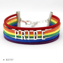 Wholesale Dropshipping Bracelet - Custom LGBT Pride Wrap Bracelet GLBT Bracelet for Lesbians Gays Bisexuals Transgender Custom Any Themes Dropshipping