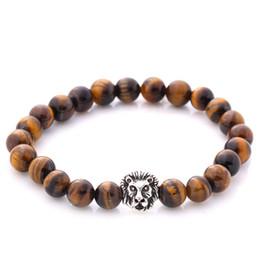 Wholesale Tibet Buddha Stone - Vintage Beads Bracelet Buddha Bracelet Pulseiras Masculinas Natural Stone Lion Bracelet Women pulseras Men Jewelry Yoga Bracelets gift