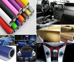 Wholesale Change Orange Vinyl - 30cm*127cm 152cm*30cm 3D DIY Carbon Fiber Vinyl Car Wrap Sheet Roll Film Waterproof Car stickers Decals Motorcycle Car Styling