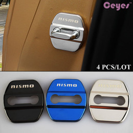 Wholesale nissan case - Car door lock cover case for NISMO nissan qashqai jeke x-trail tiida t32 almera door lock protector logo badges car styling