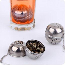 Wholesale Kitchen Mesh Strainer - Stainless Steel Ball Tea Infuser Mesh Filter Strainer w hook Loose Tea Leaf Home Kitchen Accessories