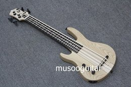 Wholesale Left Bass Neck - MiNi 4string ukulele electric left hand bass natural color neck-thru style
