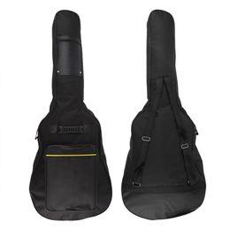 Doble bajo online-Clásico suave guitarra acústica bajo titular de la bolsa con doble acolchado correas 40 41 pulgadas conveniente ventilador de la música NUEVO