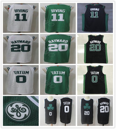 Wholesale Green Road - 2017 2018 New Style 11 Kyrie Irving 20 Gordon Hayward Jersey Home Road White Green Black 0 Jayson Tatum Basketball Jerseys All Stitched