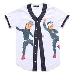 2019 la moda della maglietta di baseball Nuovo modo di arrivo Hip Hop Dancing Guys Jersey 3d All Over Print Maglietta da baseball Estate Uomo Cool Sport Streetwear Top Abbigliamento la moda della maglietta di baseball economici