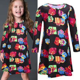 Wholesale Girl Party Dress Pattern Free - 2017 baby girl party dress children frocks designs Christmas Girl winter Dress Infant Baby gift pattern Free shipping