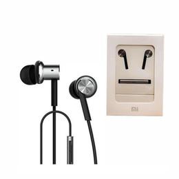 Auricular xiaomi mi online-Auriculares híbridos auriculares de metal de sensación bajo HiFi auriculares en la oreja Mi Ring Circle auriculares de hierro con micrófono para teléfonos Xiaomi