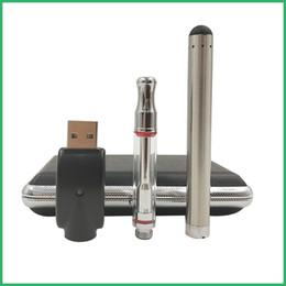 2019 gemacht box mod o pen vape touch pen e zigarette 380 mah knospe batterie variable spannung vorwärmen glaspatrone zerstäuber ledertasche starter kit