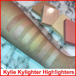 Wholesale French Wear - Kylighter Kylie Highlighters Kylie Cosmetics Highlighter Glow Face Makeup 6 color Bronzers & Highlighters Salted Caramel French Vanilla DHL