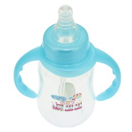 Wholesale Baby Gourd - Wholesale-150ML Infant Baby Bottles Milk Feeding My Bottle With Two Handle Cup