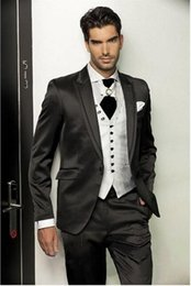 Wholesale Tuxedo For Grooms Ship - Free Shipping Groom Tuxedos wedding suits for men Best man Suit Wedding Groomsman Men Suits Bridegroom (Jacket+Pants)