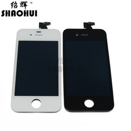 Wholesale Iphone Digitizer For 4s 4gs - lcd tv with wifi 100% Brand New Lcd Display A quanlity Touch Digitizer With Frame Assembly For iPhone 4S 4GS White black