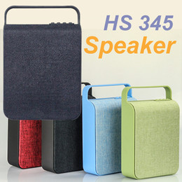 Wholesale Wholesale Audio System - HS345 Wireless Mini Bluetooth Speaker Sound System 3D Stereo Music Surround Cloth wireless speakers TF card USB player MIS149