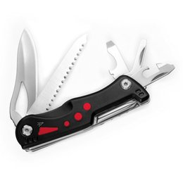 Wholesale Led Light Pockets - Outdoor Multitool Pliers with 9 Functions Plus LED Light Camping Folding Pocket Pliers Portable Combination Tool High Quality