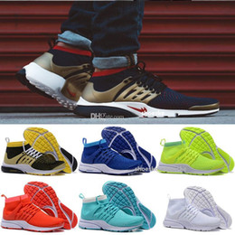 2017 or rouge 2017 Hot Sale Presto Ultra Olympiques BR QS Femmes Chaussures de course à pied NAVY / RED / GOLD Mode Casual Walking Airs Sports Sneakers Taille 36-45 or rouge sortie