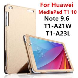 2019 huawei mediapad t1 Al por mayor- Estuche para Huawei MediaPad T1 10 PU protectora elegante cubierta de cuero Tablet para HUAWEI Nota 9.6 T1-A21W T1-A23L T1-A21L Protector huawei mediapad t1 baratos