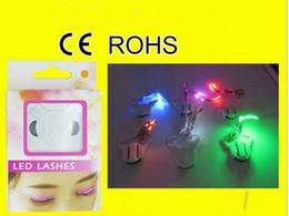 Wholesale Glitter Machine Wholesale - 2017 LED Eyelashes Women Sparkle F. Lashes Interactive For Party Concert Festival Gift Female Eyelash With Retail Package