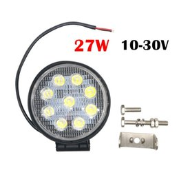 Wholesale Led Off Road Flood - Motor Lights 27W DC 12V 24V LED Work Light Flood Round LED Offroad Light Lamp Worklight for Off road Motorcycle Car Truck 6000K