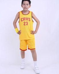 Wholesale Dress 23 - Children's Cavaliers No. 23 James Basketball Basketball Dress Set Contest Training Wear Basketball 50243 Free Shipping