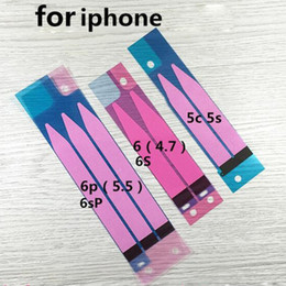 """laminación iphone Rebajas 50 unids / lote batería pegatina adhesiva pegamento de la cinta para carcasa trasera carcasa trasera para iphone 5s 5c iPhone 6 4.7 pulgadas 6 más 5.5 """"al por mayor"""