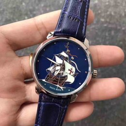 Wholesale Mechanical Watch For Girl - Santa Maria watches men luxury brand watch usa wrist watches brands men price for girls women automatic wristwatch leather free shipping