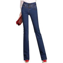 Wholesale Ladies Denim Jeans Boot Cut - Wholesale- {Guoran} Plus Size 26-33 Women Flare Jeans [pants High waist Lady Straight Denim trousers Boot Cut Flares Pant 2017 Fashion