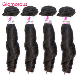 Wholesale black hair weave hairstyles - Glamorous Hairstyle Indian Remy Hair Weave 4 Bundles Funmi Wave Brazilian Malaysian Peruvian Human Hair Weft Cheap Weave Hair for blacks