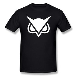 Wholesale Cheap Free Size White Shirts - VanossGaming Vanoss White Owl Logo Printed US Size 2017 new High Quality 100% Cotton men's T Shirt cheap sell Free shipping