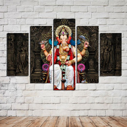 Wholesale Large Photo Images - HD Painted Oil Painting On Canvas Large Statue Paintings Wall Decoration 5 Piece set Canvas Art Hot Photo Image Picture For Home