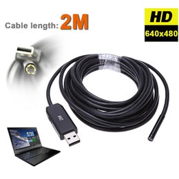 Wholesale Wholesale Mini Micro Remote Control - Wholesale- 2M 5MM USB Endoscope Waterproof 6LED Inspection Tube Snake Video Mini Micro Camera Scope