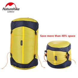 Wholesale Compression Bag Camping - Wholesale- Brand Naturehike Outdoor Camping sleeping bag compression sack Pack Stuff Sack 20D Nylon Silicon Waterproof Storage Carry Bag