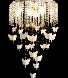 Wholesale European Led Crystal Chandeliers - New Angel creative modern crystal chandelier lamp European style LED crystal dining bedroom lamp warm room lamp for children LLFA