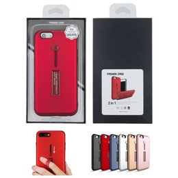 Wholesale Metal Fashion Iphone Cases - 2017 Brand New Hybrid Fashion Case Rubber Hand Ring Holder Metal Stand Phone Case for iPhone X 8 7 7plus