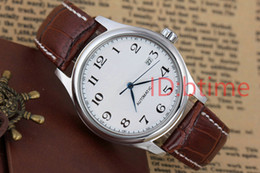 Regalos de cuero para los hombres online-AAA deporte de calidad Mecánica automática fecha reloj de lujo de los hombres relojes de zafiro reloj de pulsera de acero inoxidable regalo relojes de cuero masculinos