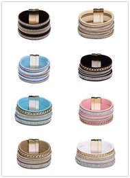 Wholesale Quality Order Party Decoration - Wholesale Leather bracelets zircon alloy gold plated bracelets 28 style tassel cross etc decoration high quality jewelry mix order