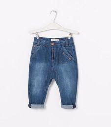 Wholesale Baggy Pant Kids - 2 styles Children Wash jeans Boys Baggy pants kids denim Harem trousers Brand clothing Wholesale