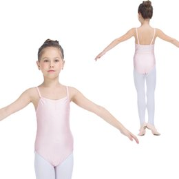 Wholesale Tights Leotards - Nylon Lycra Camisole Moderate Low Back Ballet Dancing Leotards Girls Costumes Kids Gymnastic Tights Full Sizes Colors